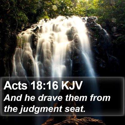 Acts 18:16 KJV Bible Verse Image
