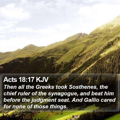 Acts 18:17 KJV Bible Verse Image
