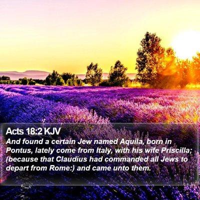 Acts 18:2 KJV Bible Verse Image