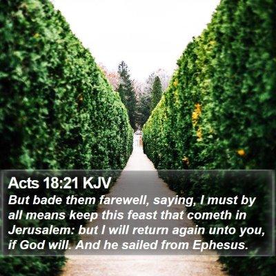 Acts 18:21 KJV Bible Verse Image