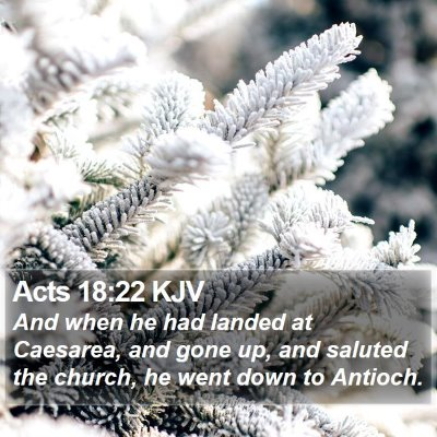 Acts 18:22 KJV Bible Verse Image