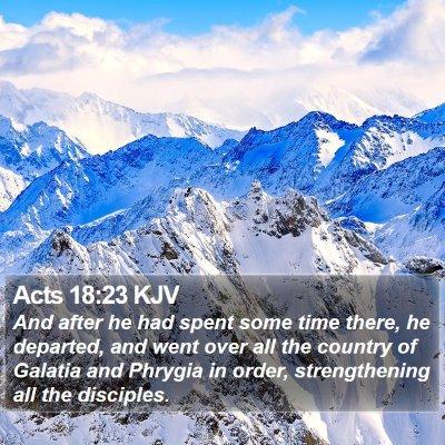 Acts 18:23 KJV Bible Verse Image