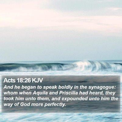 Acts 18:26 KJV Bible Verse Image