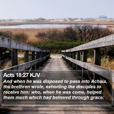 Acts 18:27 KJV Bible Verse Image