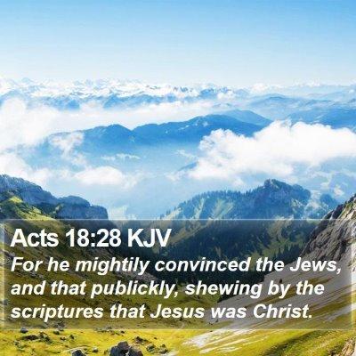 Acts 18:28 KJV Bible Verse Image