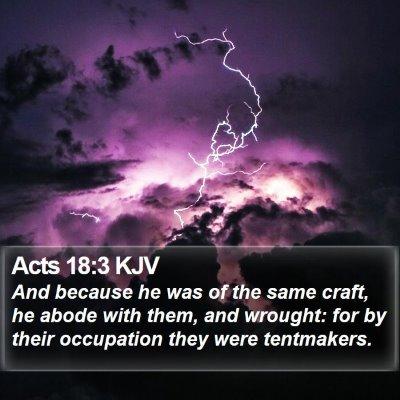 Acts 18:3 KJV Bible Verse Image