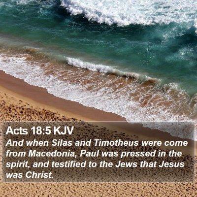 Acts 18:5 KJV Bible Verse Image