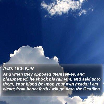 Acts 18:6 KJV Bible Verse Image