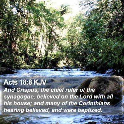Acts 18:8 KJV Bible Verse Image