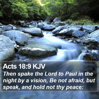 Acts 18:9 KJV Bible Verse Image