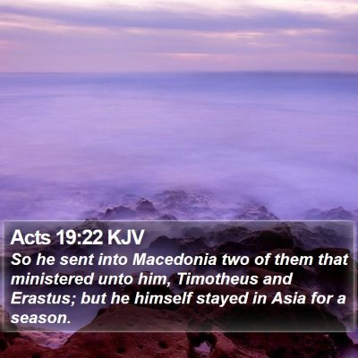 Acts 19:22 KJV Bible Verse Image