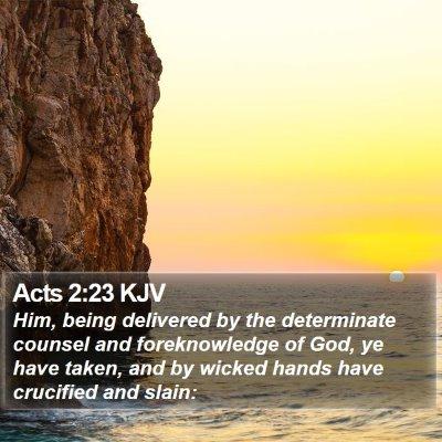 Acts 2:23 KJV Bible Verse Image