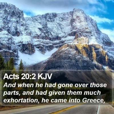 Acts 20:2 KJV Bible Verse Image