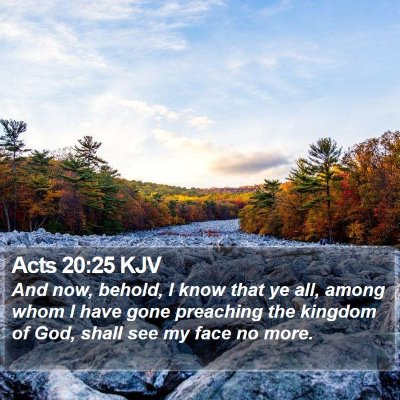 Acts 20:25 KJV Bible Verse Image