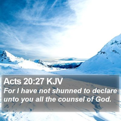 Acts 20:27 KJV Bible Verse Image