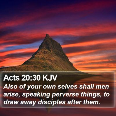 Acts 20:30 KJV Bible Verse Image