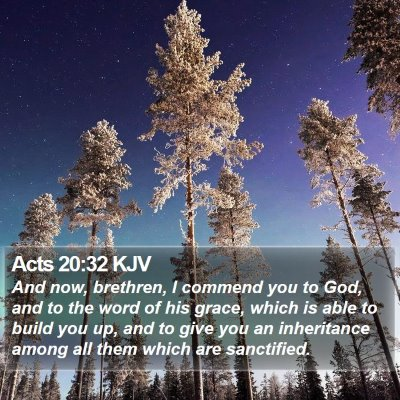 Acts 20:32 KJV Bible Verse Image