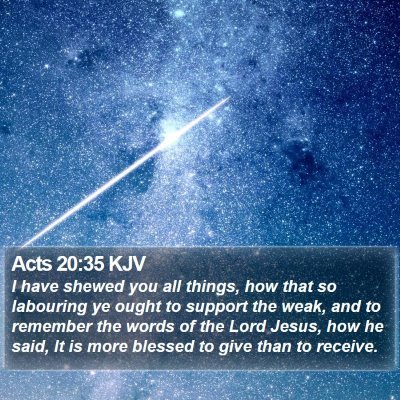 Acts 20:35 KJV Bible Verse Image