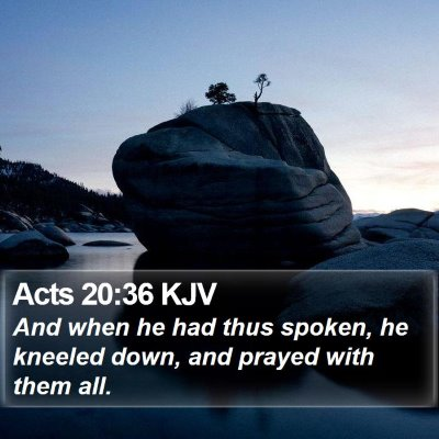 Acts 20:36 KJV Bible Verse Image