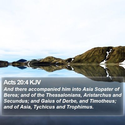 Acts 20:4 KJV Bible Verse Image