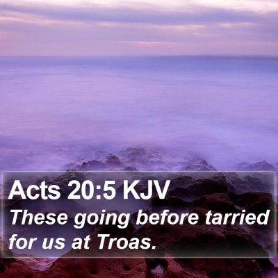 Acts 20:5 KJV Bible Verse Image