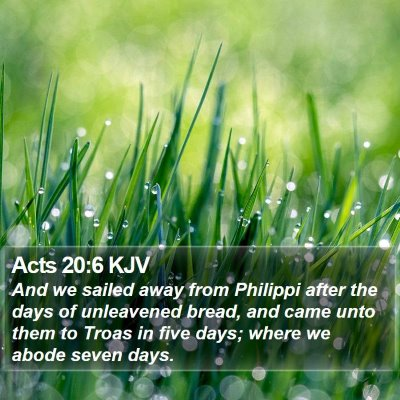 Acts 20:6 KJV Bible Verse Image