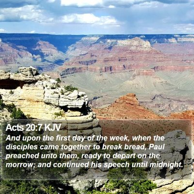 Acts 20:7 KJV Bible Verse Image