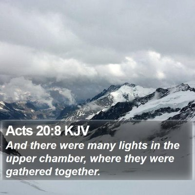Acts 20:8 KJV Bible Verse Image