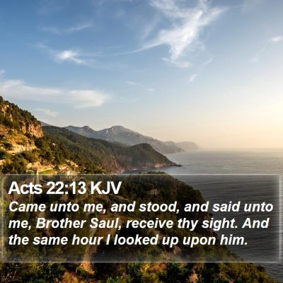 Acts 22:13 KJV Bible Verse Image