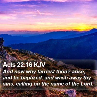 Acts 22:16 KJV Bible Verse Image