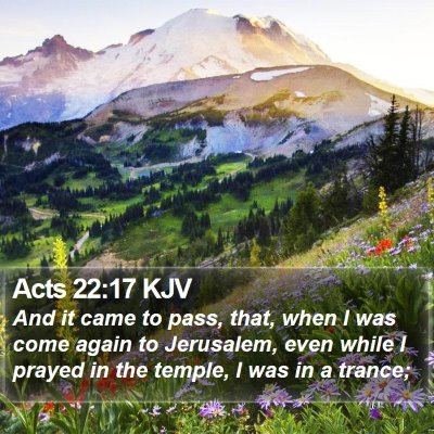 Acts 22:17 KJV Bible Verse Image