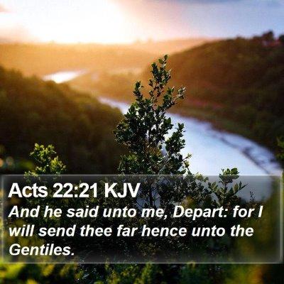 Acts 22:21 KJV Bible Verse Image
