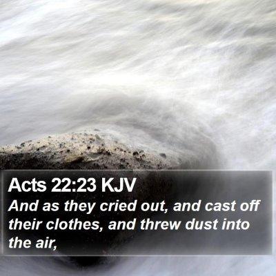 Acts 22:23 KJV Bible Verse Image