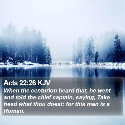 Acts 22:26 KJV Bible Verse Image