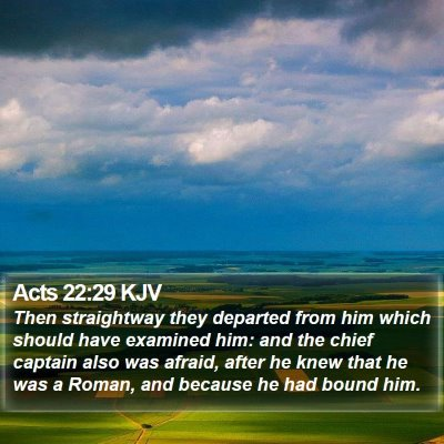 Acts 22:29 KJV Bible Verse Image