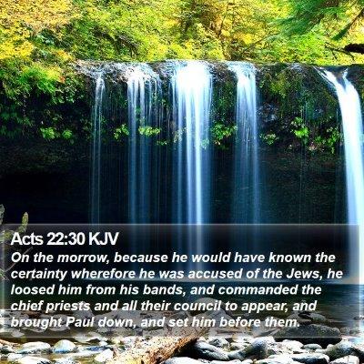Acts 22:30 KJV Bible Verse Image