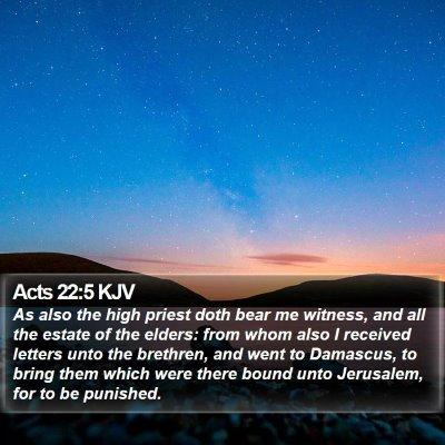 Acts 22:5 KJV Bible Verse Image