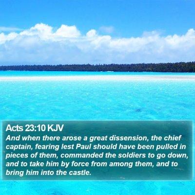 Acts 23:10 KJV Bible Verse Image