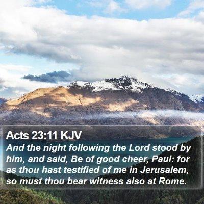 Acts 23:11 KJV Bible Verse Image