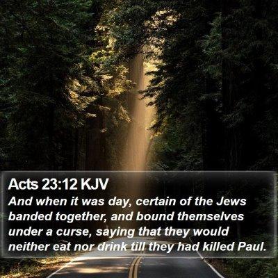 Acts 23:12 KJV Bible Verse Image