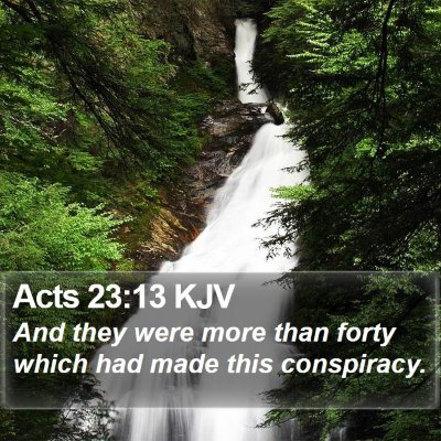 Acts 23:13 KJV Bible Verse Image