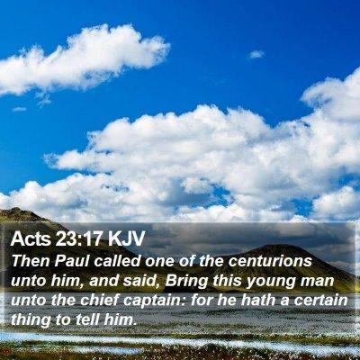 Acts 23:17 KJV Bible Verse Image