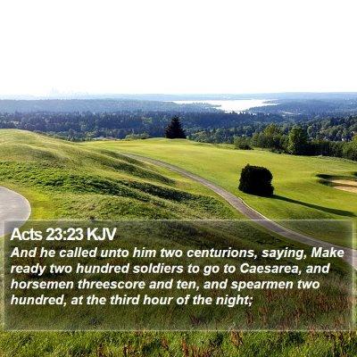 Acts 23:23 KJV Bible Verse Image