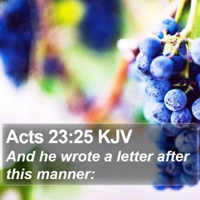 Acts 23:25 KJV Bible Verse Image