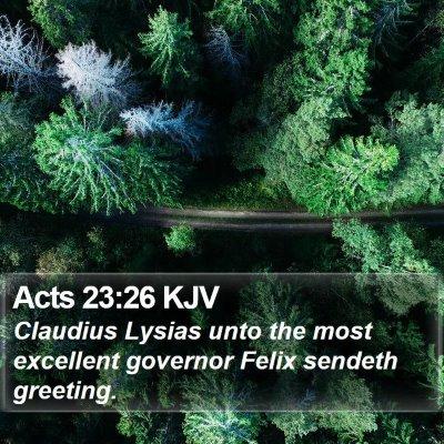 Acts 23:26 KJV Bible Verse Image