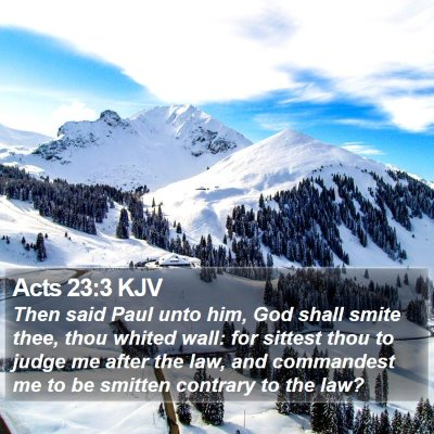 Acts 23:3 KJV Bible Verse Image