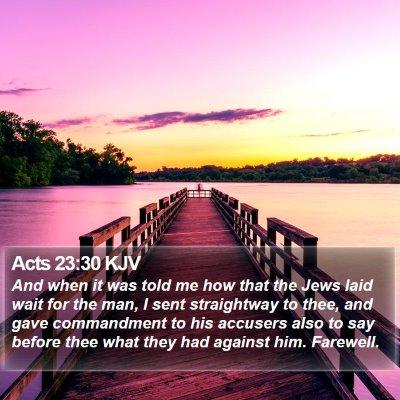 Acts 23:30 KJV Bible Verse Image