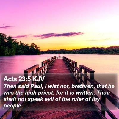Acts 23:5 KJV Bible Verse Image