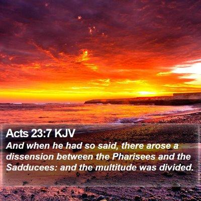 Acts 23:7 KJV Bible Verse Image
