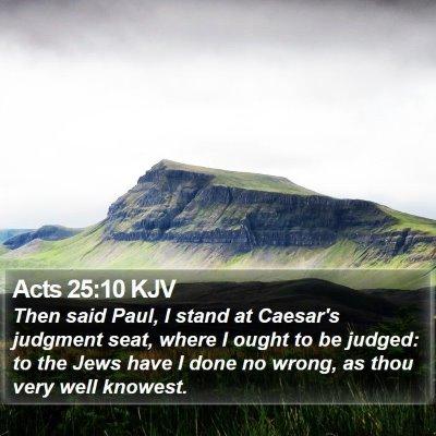 Acts 25:10 KJV Bible Verse Image